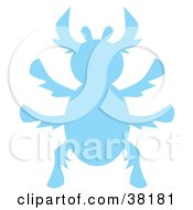 Clipart Illustration Of A Blue Silhouetted Beetle by Alex Bannykh