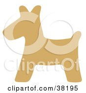 Clipart Illustration Of A Brown Silhouetted Scottish Terrier