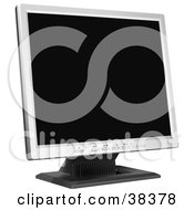 Clipart Illustration Of A Small Flat Screened Computer Monitor by dero