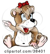 Clipart Illustration Of A Female Dog Pointing Left