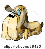 Clipart Illustration Of A Lonely Old Dog by dero