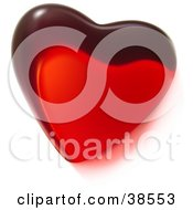 Clipart Illustration Of A Single Red Glass Heart by dero