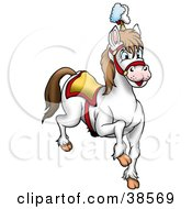 Clipart Illustration Of A White Circus Horse by dero
