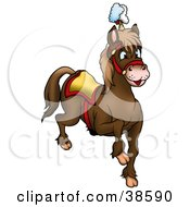 Clipart Illustration Of A Brown Circus Horse