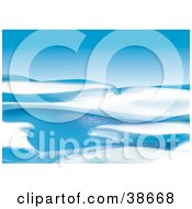 Clipart Illustration Of Light Glistening On A Blue And White Ice Floe In The Arctic by dero