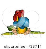 Clipart Illustration Of A Depressed Colorful Parrot Slouching by dero