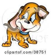 Clipart Illustration Of A Curious Puppy Dog Looking Back Over His Shoulder by dero