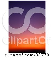 Clipart Illustration Of A Gradient Purple Orange And Red Sunset Sky by dero
