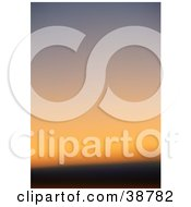 Clipart Illustration Of A Blurred Orange Sunset Sky by dero