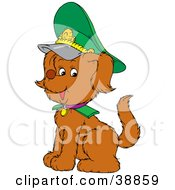 Clipart Illustration Of A Proud Russian Army Dog