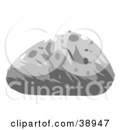 Clipart Illustration Of A Gray Rounded Boulder