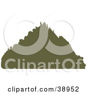 Clipart Illustration Of A Brown Silhouetted Triangular Mountain