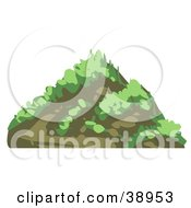 Clipart Illustration Of A Grassy Mountain