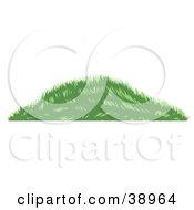 Clipart Illustration Of A Grassy Green Berm