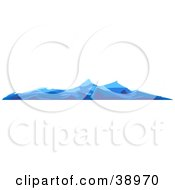 Clipart Illustration Of Blue Choppy Waves On The Surface Of The Ocean