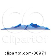 Clipart Illustration Of Waves Rolling On The Surface Of The Ocean by Tonis Pan