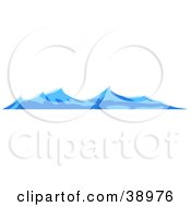 Clipart Illustration Of Turbulent Blue Waves On The Surface Of The Sea by Tonis Pan