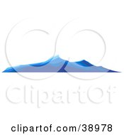 Clipart Illustration Of Blue Turbulent Waves On The Surface Of The Ocean