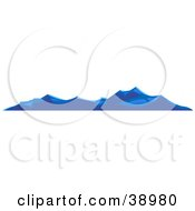 Clipart Illustration Of Waves Rolling On The Surface Of The Sea by Tonis Pan