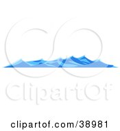 Clipart Illustration Of Rolling Blue Waves On The Surface Of The Sea by Tonis Pan