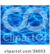 Clipart Illustration Of A Background Of Rippling Blue Pool Water Reflecting Light At The Surface