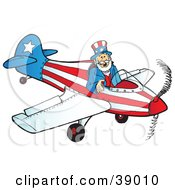 Uncle Sam Flying A Patriotic Airplane
