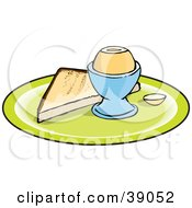 Clipart Illustration Of A Slice Of Toast And A Boiled Egg On A Plate