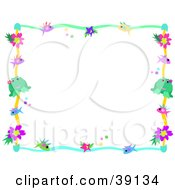 Clipart Illustration Of A Colorful Border Of Fish Stars Dots Flowers And Frogs by bpearth