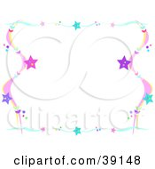 Clipart Illustration Of A Colorful Wavy Star Border by bpearth