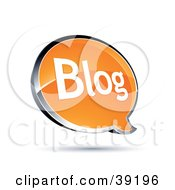 Clipart Illustration Of A Shiny Orange Blog Chat Window