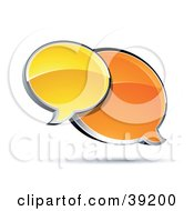 Clipart Illustration Of Two Shiny Orange And Yellow Instant Messenger Windows
