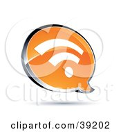 Clipart Illustration Of A Shiny Orange RSS Chat Window