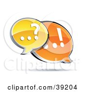 Clipart Illustration Of A Customer Service Instant Messenger Window Assisting A Customer