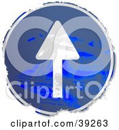 Clipart Illustration Of A Grungy Blue Circular Up Arrow Sign