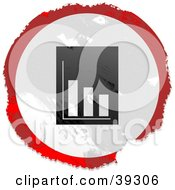 Clipart Illustration Of A Grungy Red White And Black Circular Financial Report Sign