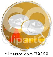 Clipart Illustration Of A Grungy Orange Circular Instant Messenger Sign by Prawny