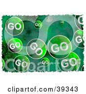 Clipart Illustration Of A Background Of Grungy Green Go Signs by Prawny