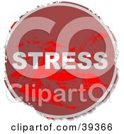 Clipart Illustration Of A Grungy Red Circular Stress Sign