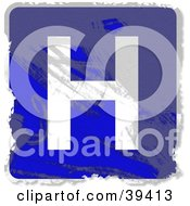 Clipart Illustration Of A Blue Grungy Square Hospital Sign by Prawny