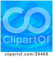 Clipart Illustration Of A Blue Concentric Liquid Ring Background