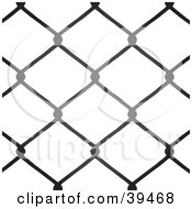 Clipart Illustration Of A Chain Link Fence Background Silhouetted On White