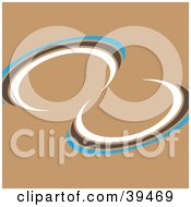 Clipart Illustration Of A Blue Brown And White Twist On A Brown Background by Arena Creative