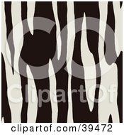 Clipart Illustration Of A Black And White Zebra Lined Print Background
