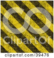 Clipart Illustration Of Dirty Diagonal Yellow And Black Hazard Stripes