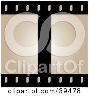 Blank Beige Film Frames