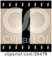Clipart Illustration Of Blank Beige Film Frames