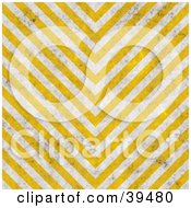 Clipart Illustration Of V Shaped Yellow And White Hazard Stripes