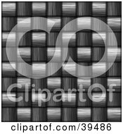 Clipart Illustration Of A Woven Carbon Fiber Background by Arena Creative