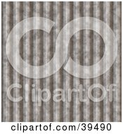 Clipart Illustration Of A Grooved Corrugated Steel Background