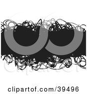 Clipart Illustration Of A Black Text Box With Doodles On A White Background